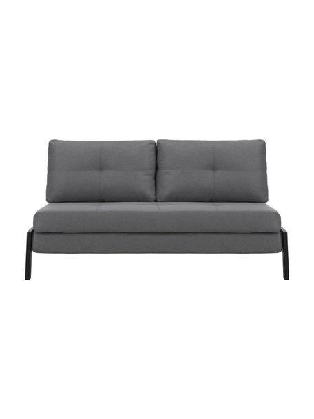 Slaapbank Edward, Bekleding: 100% polyester, Geweven stof donkergrijs, B 152  x D 96 cm