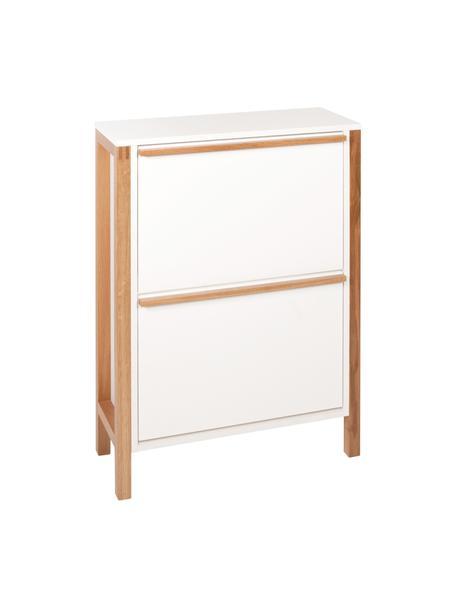 Scarpiera con 2 scomparti Northgate, Bianco, quercia, Larg. 65 x Alt. 93 cm