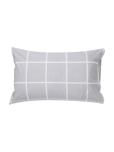 Fundas de almohada Gael, 2uds., Algodón, Gris, blanco, An 50 x L 80 cm