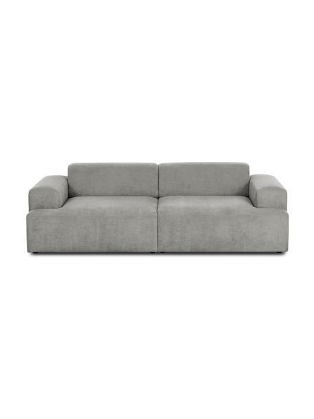 Cord-Sofa Melva (3-Sitzer) in Grau, Bezug: Cord (92% Polyester, 8% P, Gestell: Massives Kiefernholz, Spa, Füße: Kiefernholz, Cord Grau, B 240 x T 101 cm