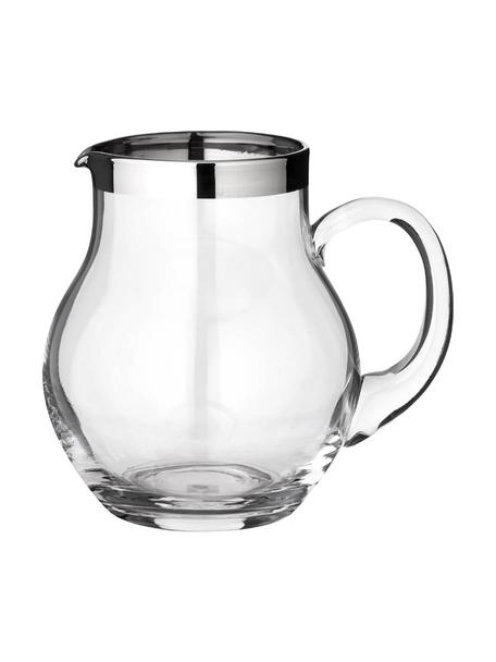 Krug Olivia, 1 L, Kristallglas , Platinrand, Transparent, 1 L