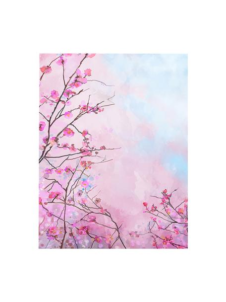 Leinwanddruck Sakura Floral, Bild: Digitaldruck auf Leinen, Mehrfarbig, 63 x 83 cm