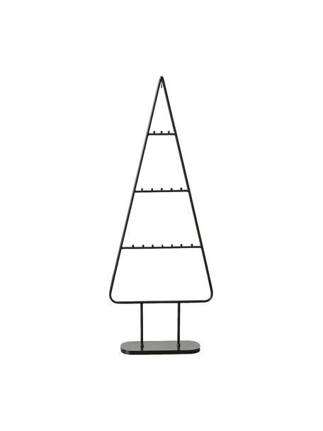 Albero di Natale in metallo Theo, Metallo verniciato a polvere, Nero, Larg. 42 x Alt. 111 cm