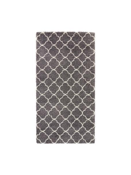Hochflor-Teppich Luna in Dunkelgrau/Creme, Flor: 100% Polypropylen, Dunkelgrau, Creme, B 80 x L 150 cm (Grösse XS)