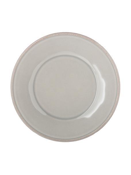 Frühstücksteller Constance im Landhaus Style, 2 Stück, Steingut, Hellgrau, Ø 24 cm