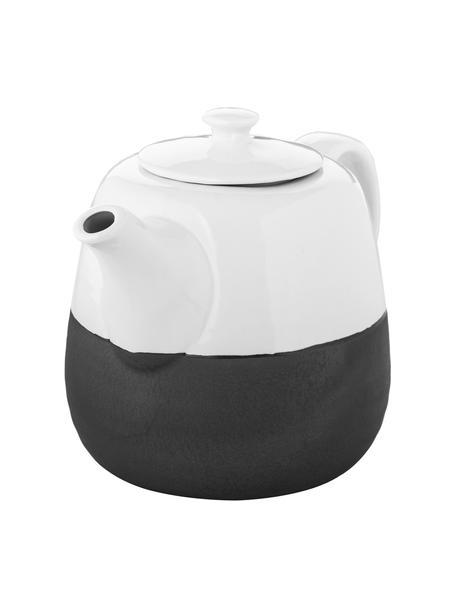Steingut Handgemachte Teekanne Esrum matt/glänzend, 1.4 L, Unten: Steingut, naturbelassen, Elfenbeinfarben, Graubraun, 1.4 L