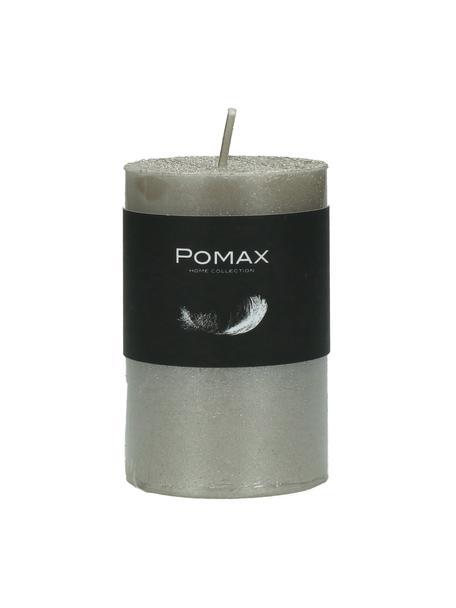 Stompkaars Arda, 80% paraffinewas, 20% palmwas, Zilverkleurig, Ø 5 x H 8 cm