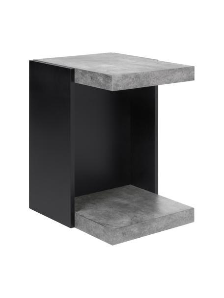 Mesa auxiliar Klaus, Estructura: aglomerado de estructura , Estantes: tablero de fibras de dens, Imitación cemento, An 38 x Al 55 cm