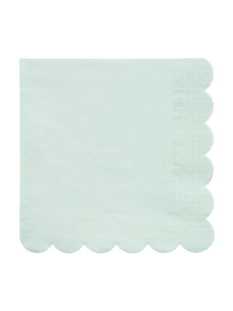 Servilletas de papel Simply Eco, 20uds., Papel, Verde menta, An 33 x L 33 cm