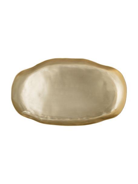 Servierplatte Gerdi aus Aluminium in Gold, L 34 x B 20 cm, Aluminium, beschichtet, Messingfarben, 20 x 34 cm