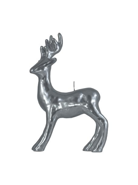 Vela decorativa Hirsch, Plateado, An 22 x Al 34 cm