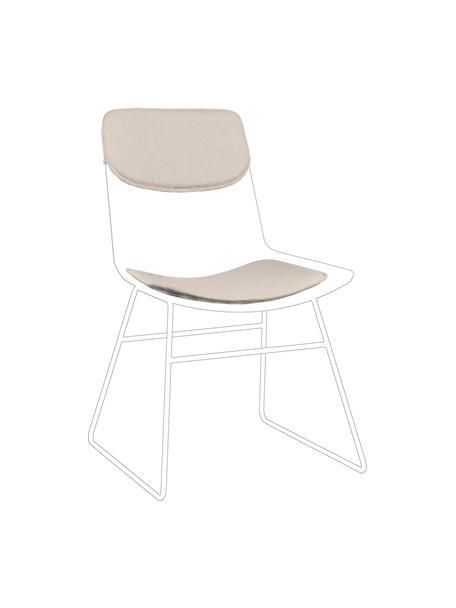 Zitkussen set voor metalen stoel Wire, 2-delig, Beige, Set met verschillende formaten
