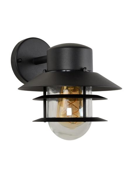 Außenwandleuchte Zico mit Glasschirm, Lampenschirm: Glas, Schwarz, 22 x 24 cm