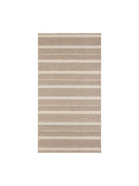 Alfombra de interior/exterior Laon, Polipropileno, Marrón, beige, An 80 x L 150 cm (Tamaño XS)