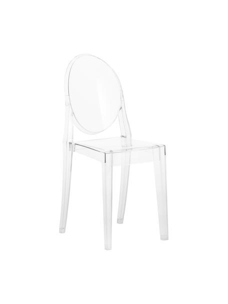 Sedia trasparente Victoria Ghost, Policarbonato, Trasparente, Larg. 38 x Prof. 52 cm