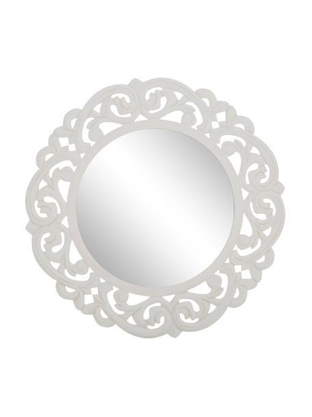 Espejo de pared Ona, Espejo: cristal, Blanco, Ø 60 cm