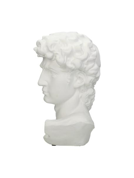 Decoratief object David, Polyresin, Wit, 17 x 30 cm