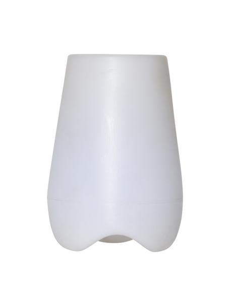 Lámpara macetero LED para exteriores Flame, Plástico, Blanco, Ø 28 x Al 40 cm