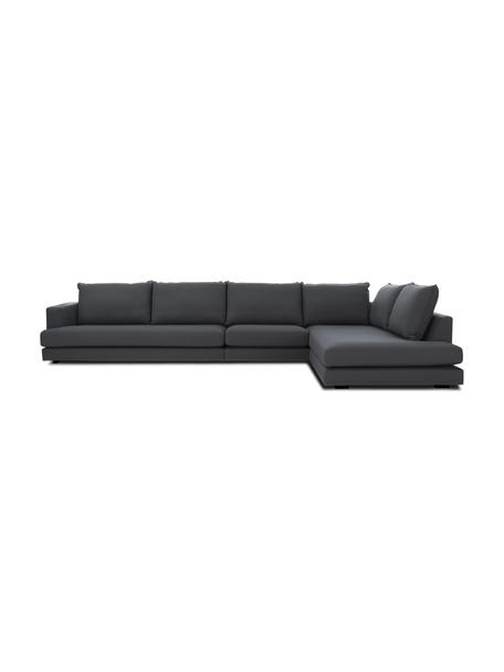 XL-Ecksofa Tribeca in Anthrazit, Bezug: 100% Polyester Der hochwe, Gestell: Massives Buchenholz, Stoff Anthrazit, B 405 x T 228 cm