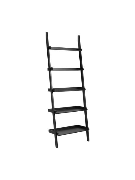 Estantería escalera Wally, Tablero de fibras de densidad media (MDF), Negro, An 67 x Al 189 cm