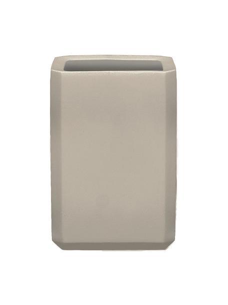 Porta spazzolini in cemento Loft, Cemento, Grigio, Larg. 8 x Alt. 11 cm