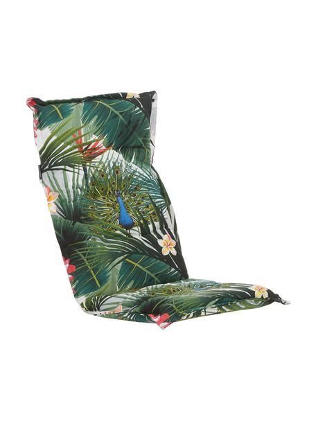 Hochlehner-Stuhlauflage Flower mit tropischem Print, 50% Baumwolle, 45% Polyester, 5% andere Fasern, Mehrfarbig, 50 x 123 cm