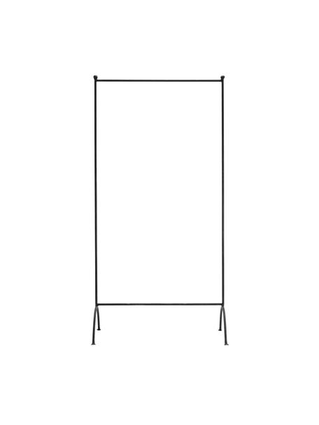 Metall-Kleiderstange Rail in Schwarz, Metall, lackiert, Schwarz mit Antik-finish, 80 x 160 cm