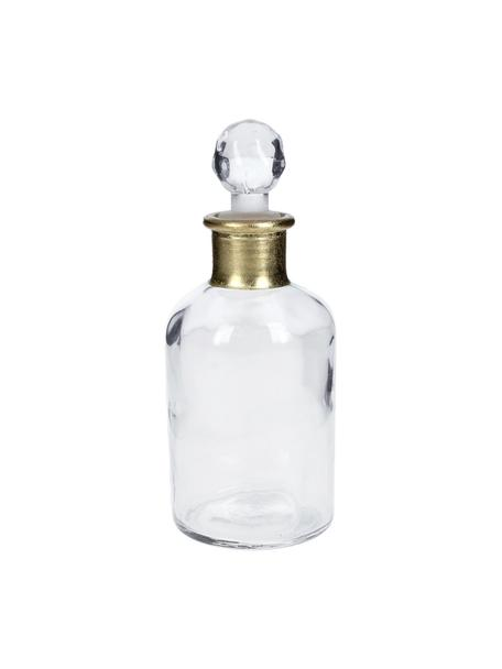 Bottiglia decorativa Doni, Vetro, Trasparente, dorato, Ø 7 x Alt. 17 cm