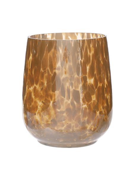 Waxinelichthouder Gunia, Glas, Mosterdgeel, Ø 9 x H 12 cm