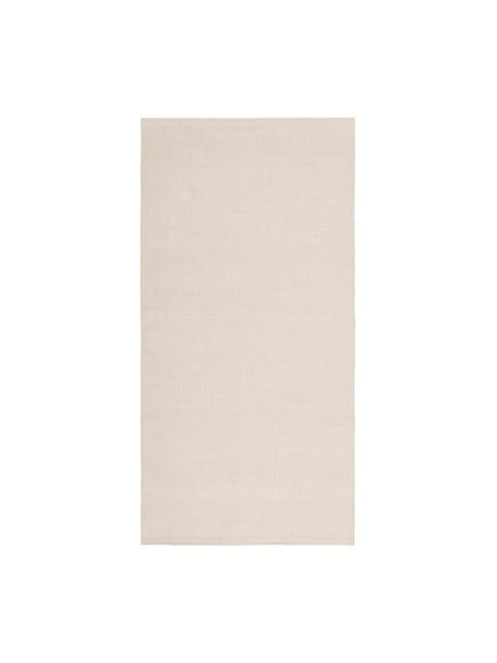 Tappeto in cotone tessuto a mano Agneta, 100% cotone, Beige, Larg. 70 x Lung. 140 cm (taglia XS)