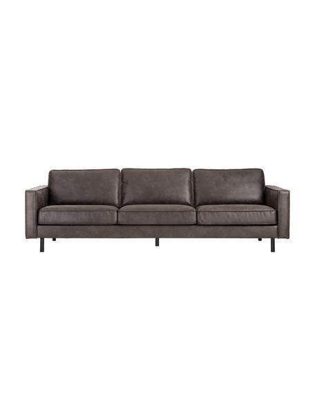 Sofa ze skóry z recyklingu Hunter (4-osobowa), Tapicerka: skóra z recyklingu (70% s, Nogi: tworzywo sztuczne, Szarobrązowy, S 264 x G 90 cm