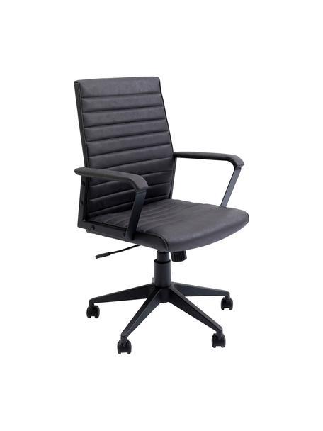 Biurowe krzesło obrotowe ze sztucznej skóry Labora, Tapicerka: sztuczna skóra, Czarny, S 57 x W 105 cm