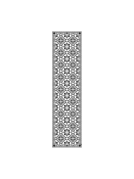 Alfombra vinílica Elena, antideslizante, Vinilo reciclable, Negro, blanco, gris, An 65 x L 255 cm