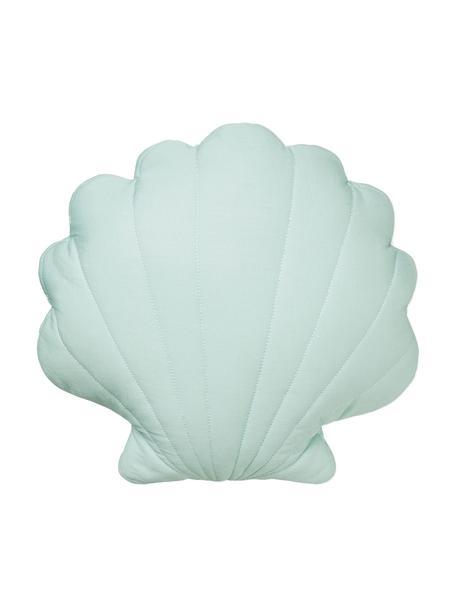 Poduszka z bawełny organicznej z wypełnieniem Sea Shell, Tapicerka: bawełna organiczna, certy, Zielony miętowy, S 28 x D 39 cm