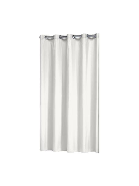 Cortina de baño Coloris, Ojales: metal, Blanco crudo, An 180 x L 200 cm