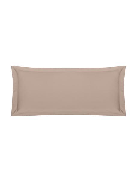 Funda de almohada de satén Premium, Gris pardo, An 45 x L 110 cm