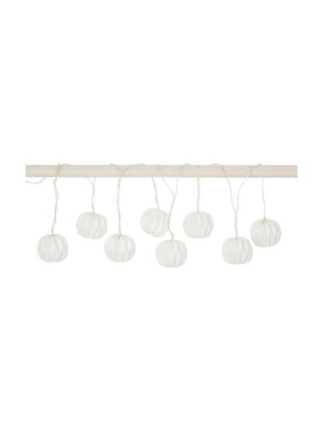 Ghirlanda  a LED Hanami, 259 cm, Carta, metallo, materiale sintetico (PVC), Bianco, Lung. 259 cm