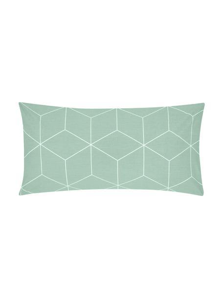 Poszewka na poduszkę z bawełny Lynn, 2 szt., Miętowy, kremowy, S 40 x D 80 cm