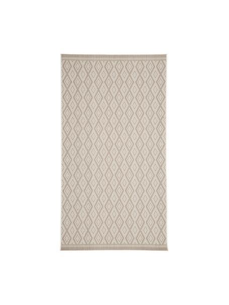Alfombra de interior/exterior Capri, Parte superior: polipropileno, Reverso: poliéster, Blanco crema, beige, An 80 x L 150 cm (Tamaño XS)