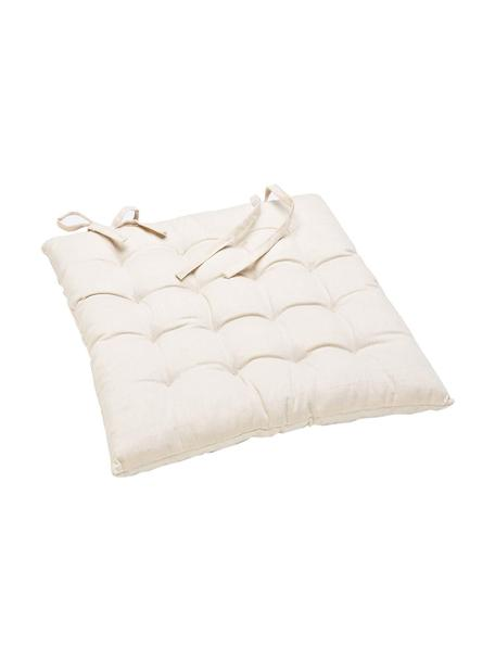 Cojín de asiento Barnibi, Tapizado: algodón, Crudo, An 45 x L 45 cm