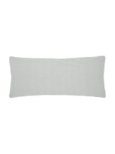 Funda de almohada de algodón Scotty, Algodón, Gris claro, blanco, An 45 x L 110 cm