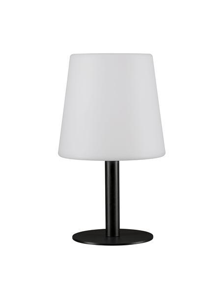 Mobile LED-Außentischleuchte Placido, Lampenfuß: Metall, beschichtet, Lampenschirm: Kunststoff, Weiß, Schwarz, Ø 16 x H 26 cm