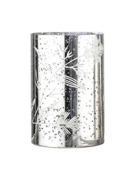Windlicht Silva, Glas, Zilverkleurig, Ø 12 cm