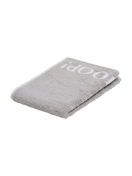 Toallas de tocador Classic Doubleface, 3uds., 100%algodón (rizado) Gramaje medio, 536g/m², Gris plateado, blanco, An 30 x L 50 cm