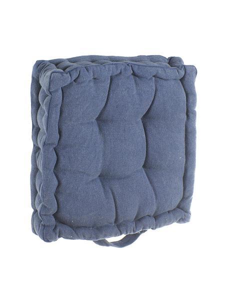 Cojín de asiento Benni, Funda: algodón, Azul, An 40 x L 40 cm