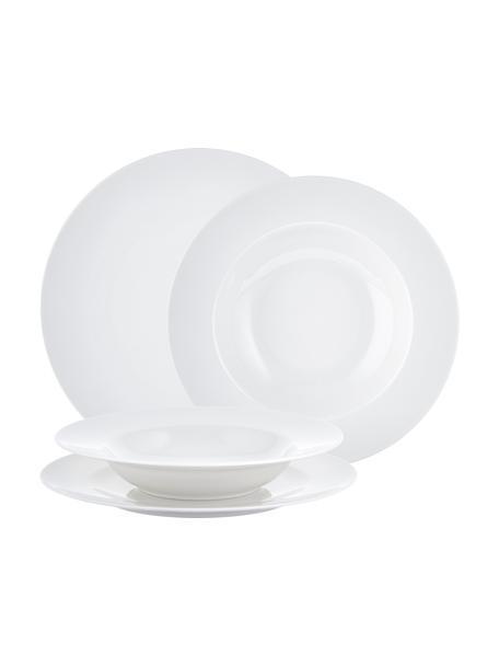 Vajila de porcelan For Me, 6comensales (8pzas.), Porcelana, Blanco, Set de diferentes tamaños