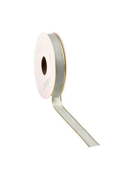 Geschenkband Batiste, 55% Rayon, 45% Polyester, Salbeigrün, Goldfarben, 3 x 1500 cm