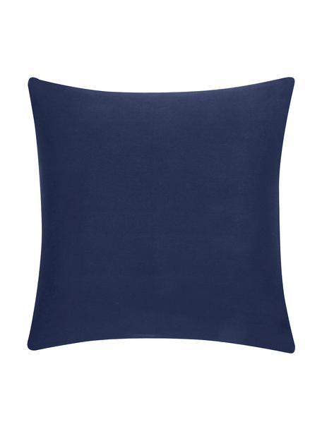 Funda de cojín de algodón Mads, Algodón, Azul marino, An 40 x L 40 cm