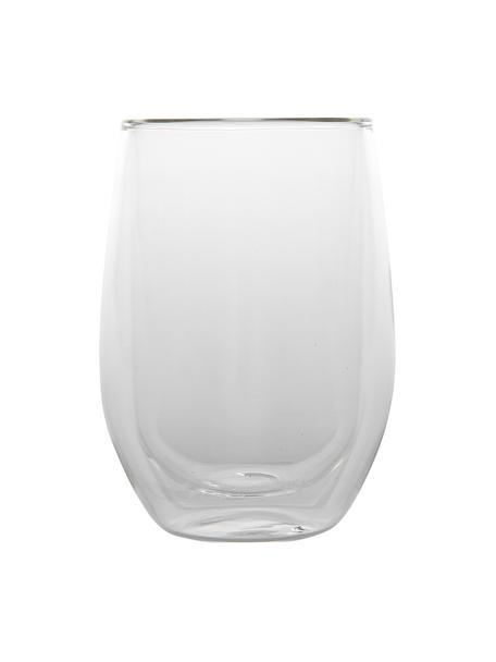 Bicchiere da tè a doppia parete Isolate 2 pz, Vetro borosilicato, Trasparente, Ø 8 x Alt. 13 cm
