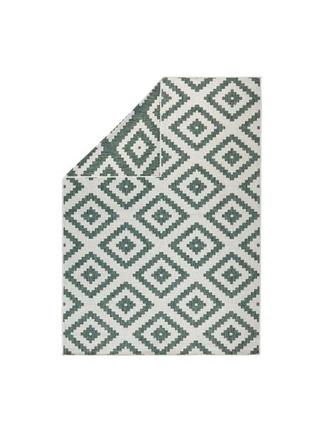 In- und Outdoor-Wendeteppich Malta in Grün/Creme, Grün, Cremefarben, B 80 x L 150 cm (Grösse XS)